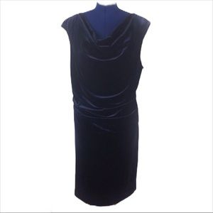 NWT Vince Camuto 22W blue velvet ruched dress